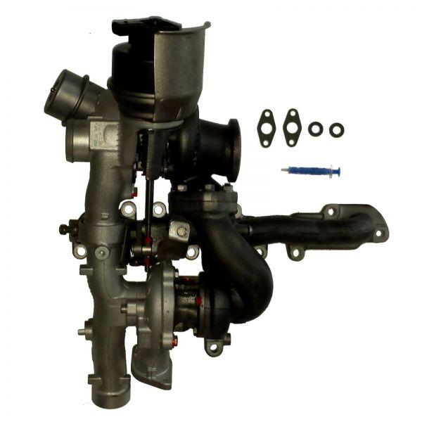 BI-Turbolader VW MULTIVAN TRANSPORTER T5 T6 2.0 Bi TDI 132kW 180PS